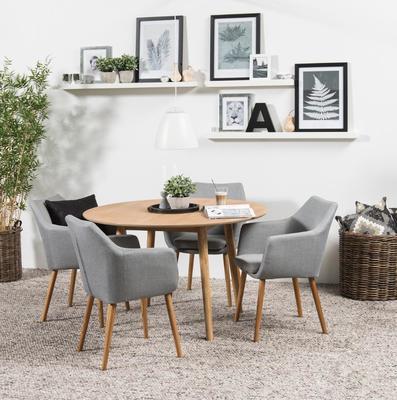 Nagane round dining table image 5