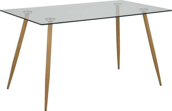 Wilmi glass dining table