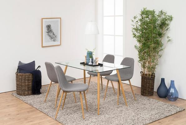 Wilmi glass dining table image 3