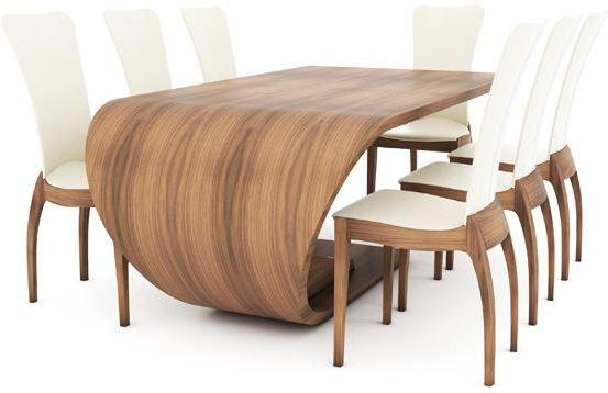 Crest Dining Table Shaped Wood
