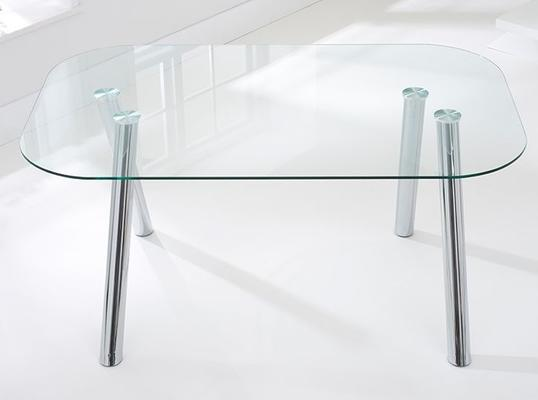 Pantheon glass dining table image 4