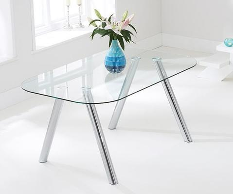 Pantheon glass dining table