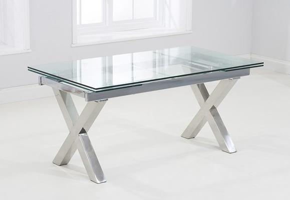 Cilento glass extending dining table image 2