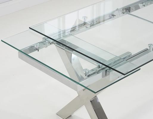 Cilento glass extending dining table image 3