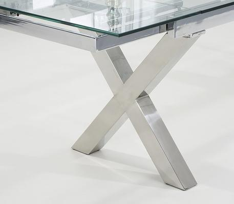 Cilento glass extending dining table image 4