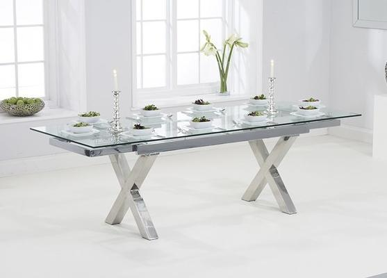 Cilento glass extending dining table image 5