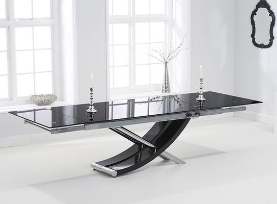 Hanover glass extending dining table