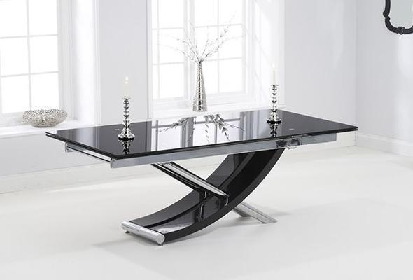 Hanover glass extending dining table image 5