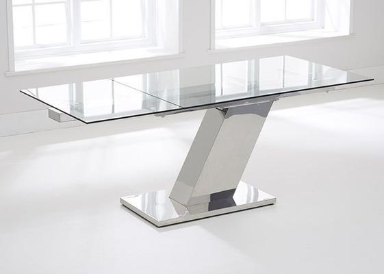 Lamont glass extending dining table