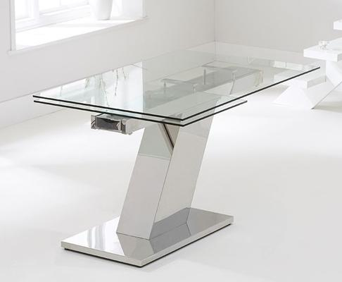 Lamont glass extending dining table image 2