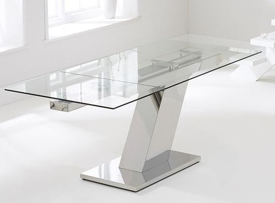 Lamont glass extending dining table image 3