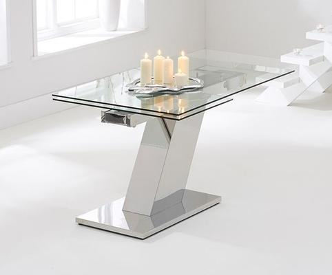 Lamont glass extending dining table image 4