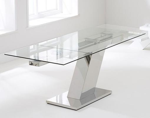 Lamont glass extending dining table image 5