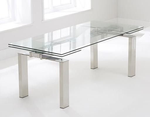 Lunetto glass extending dining table image 2