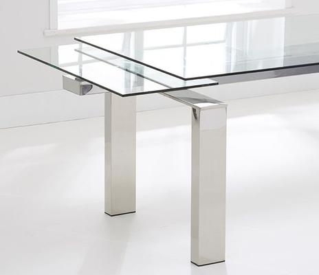 Lunetto glass extending dining table image 3