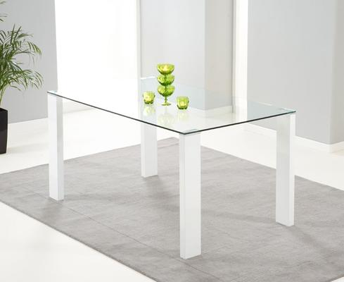Lourdes glass dining table