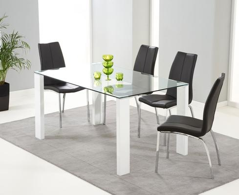 Lourdes glass dining table image 2