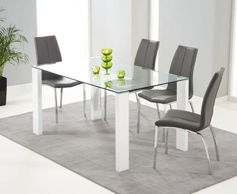 Lourdes glass dining table image 3