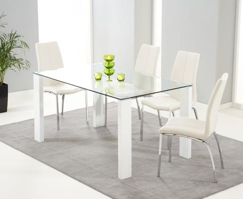 Lourdes glass dining table image 4