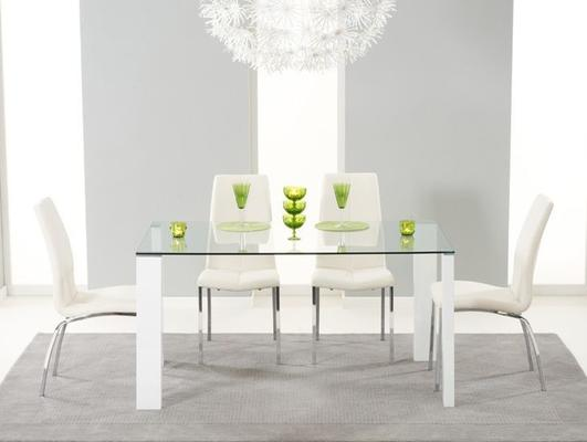 Lourdes glass dining table image 5