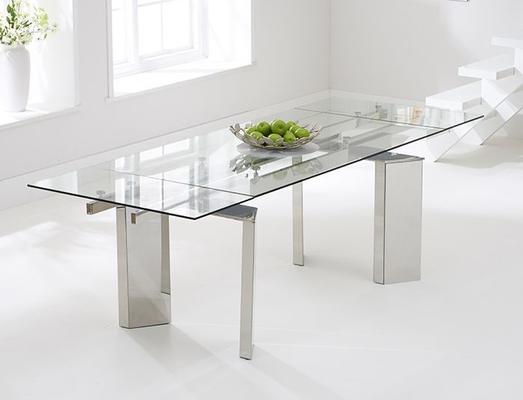 Millicent glass extending dining table