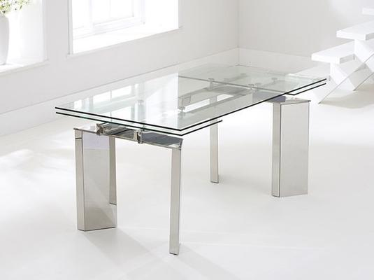 Millicent glass extending dining table image 5