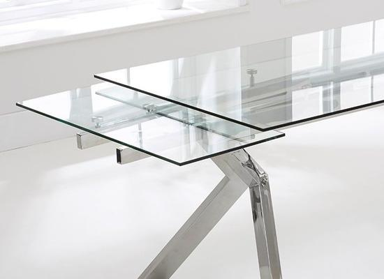Palazzo glass extending dining table image 2