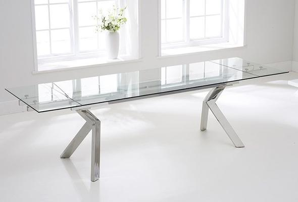 Palazzo glass extending dining table image 3