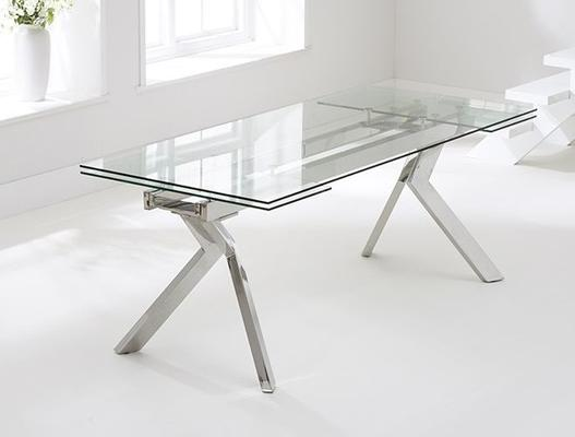 Palazzo glass extending dining table image 4