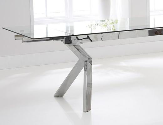Palazzo glass extending dining table image 5