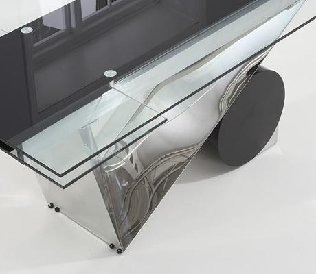 Peru glass extending dining table image 2