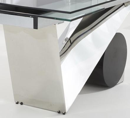 Peru glass extending dining table image 4
