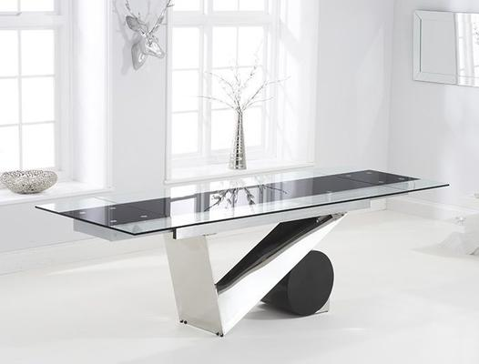Peru glass extending dining table image 5