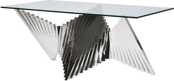 Contemporary Brass Steel Fan Dining Table image 3