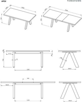 Apex extending dining table image 10
