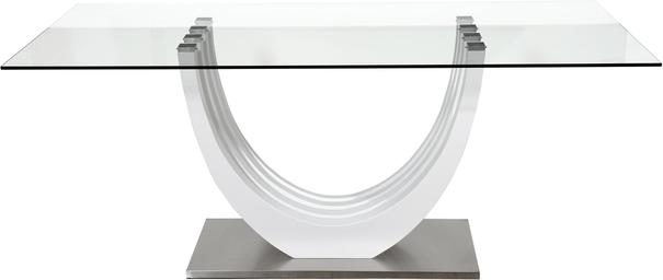 Ovio glass top dining table image 2