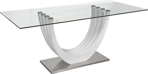 Ovio glass top dining table image 4