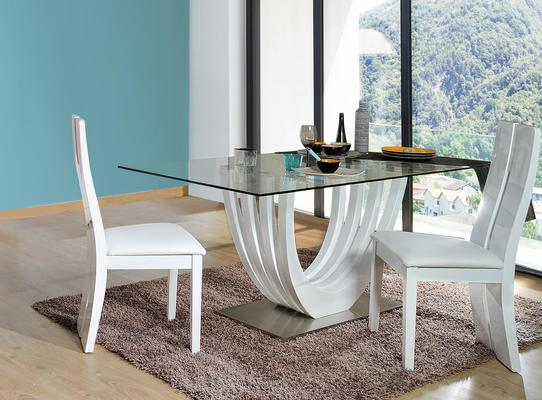 Ovio glass top dining table image 5