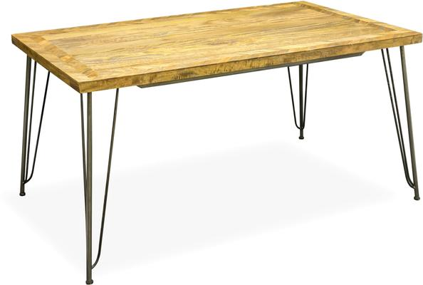 Hairpin Dining Table Mango Wood and Steel
