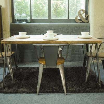 Hairpin Dining Table Mango Wood and Steel image 2