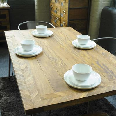 Hairpin Dining Table Mango Wood and Steel image 5