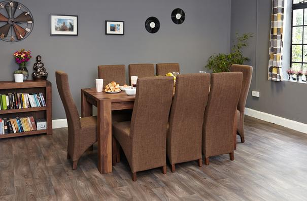 Shiro Walnut Dining Table Rustic image 2