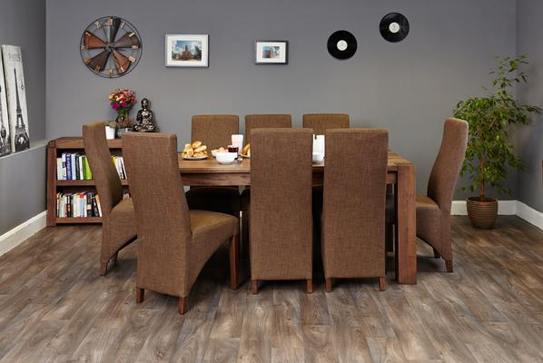 Shiro Walnut Dining Table Rustic image 4