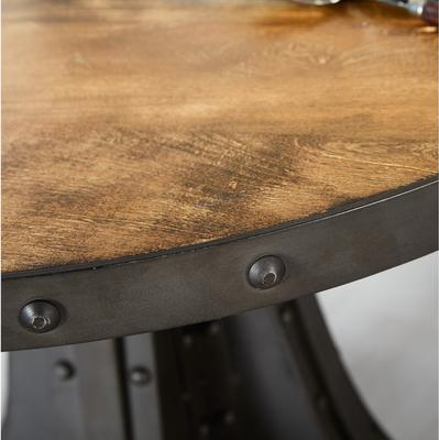 Evoke Round Dining Table Reclaimed Metal and Wood image 2