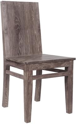 The 'Mantang' 180cm Reclaimed Dining Teak Table and 6 Wooden Chair Set image 2