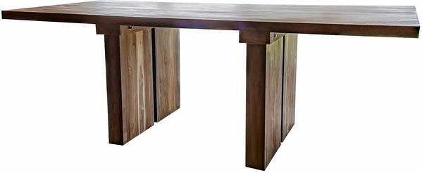 Sakra Solid Wood Rustic dining table image 3