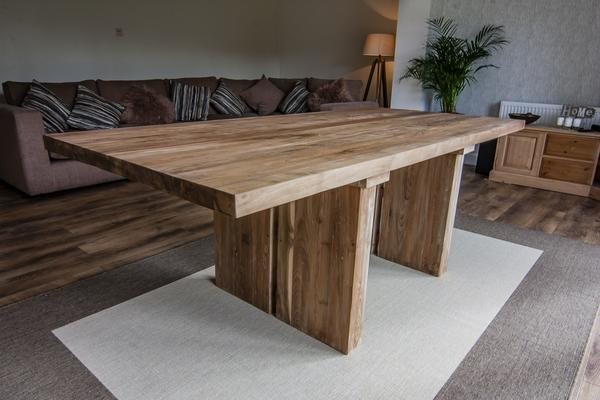 Sakra Solid Wood Rustic dining table image 4