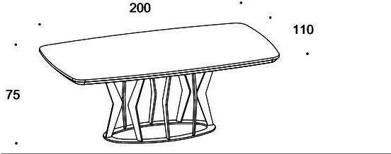 Elysee dining table image 8