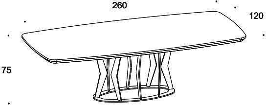 Elysee dining table image 9