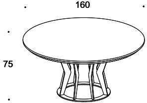 Elysee round dining table image 7